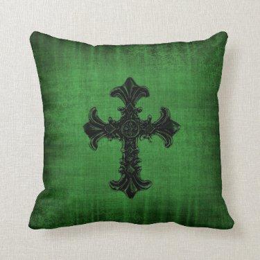 Green Velvet look Cushion Pillow