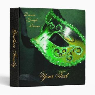 Green Venetian Masquerade Halloween Binder