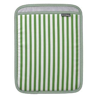 Green Vertical Stripes iPad Sleeves