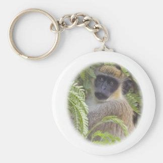 Green Vervet Monkey Keychain