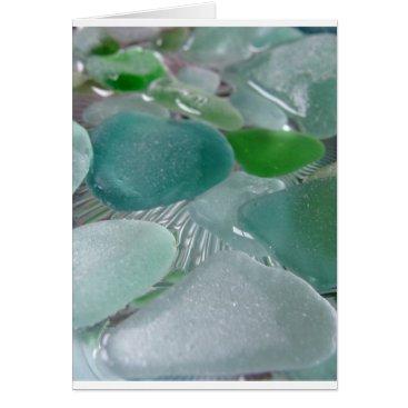 LHSeaglass Green Vibrations Green Sea Glass Card