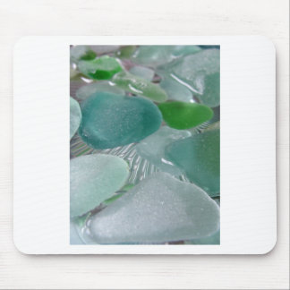 Green Vibrations Green Sea Glass Mouse Pad