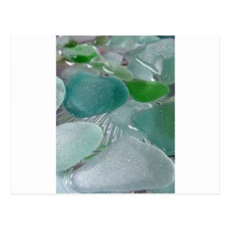 Green Vibrations Green Sea Glass Postcard