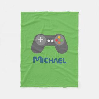 Green Video Game Controller Fleece Blanket