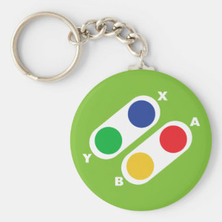 Green Video Game Controller Gamer Keychain