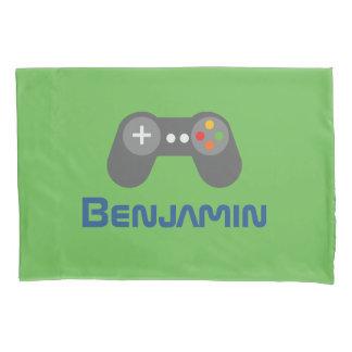 Green Video Game Controller Pillow Case