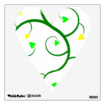 Green Vine Hearts Wall Decal