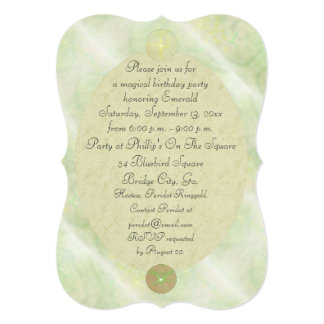 Green Vine Magick Wand Birthday Party Celebration Card