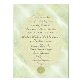 Green Vine Magick Wand Birthday Party Celebration 6.5x8.75 Paper Invitation Card