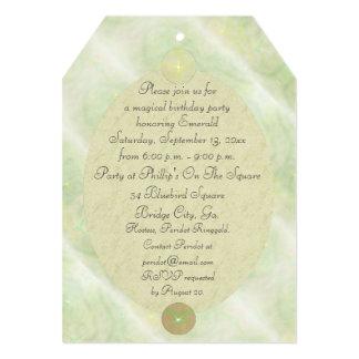 Green Vine Magick Wand Birthday Party Celebration 5x7 Paper Invitation Card
