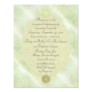 Green Vine Magick Wand Birthday Party Celebration 4.25x5.5 Paper Invitation Card