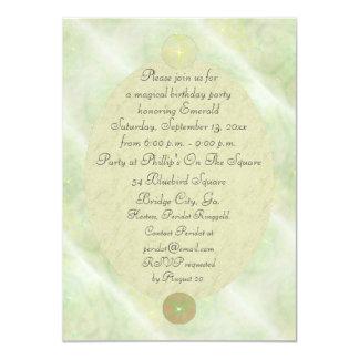 Green Vine Magick Wand Birthday Party Celebration 4.5x6.25 Paper Invitation Card