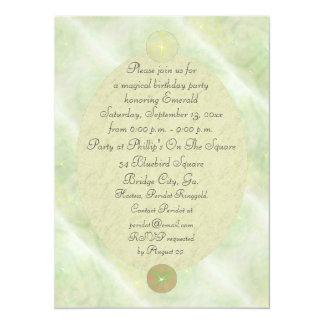 Green Vine Magick Wand Birthday Party Celebration 5.5x7.5 Paper Invitation Card