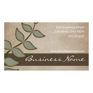 Green Vine on Brown Nature Business Cards