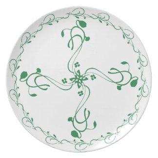 Green Vine Portion Control Plate