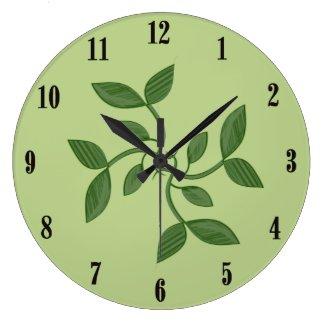 Green Vines Decorative Wall Clock Clock