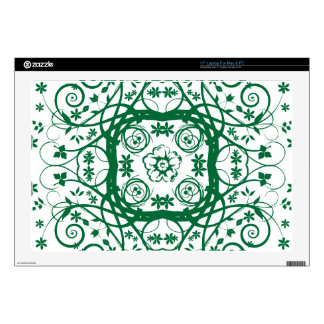 Green Vines Design Decal For Laptop