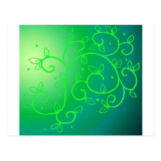 Green Vines Irish Luck Ireland Plant Flowers Art Postcard