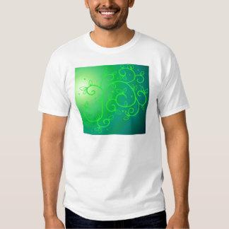 Green Vines Irish Luck Ireland Plant Flowers Art T-shirts