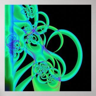 Green Vines print