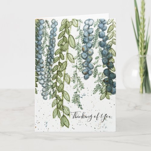 Green Vines _ Thinking of You Card