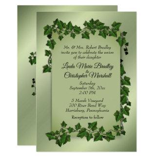 Green Vines Wedding Invitation