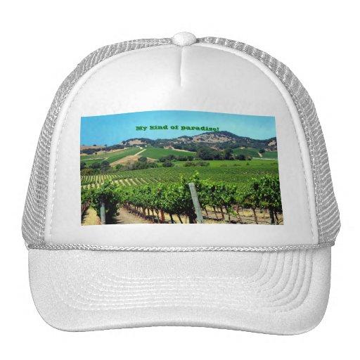 green vineyard photograph trucker hat
