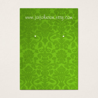 Green Vintage Background Earring Cards