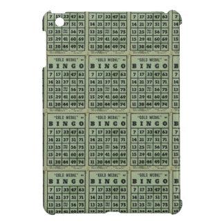 green vintage bingo cards iPad mini cases