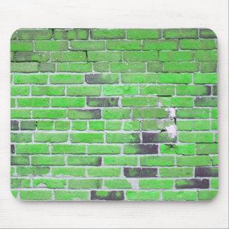 Green Vintage Brick Wall Texture Mouse Pad