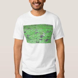 Green Vintage Brick Wall Texture T-shirt