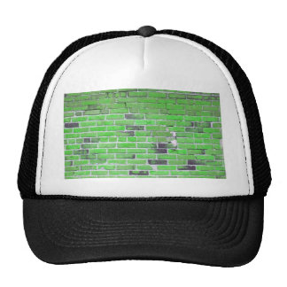 Green Vintage Brick Wall Texture Trucker Hat