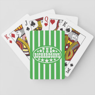 Green Vintage Carnival Family Playing Cards