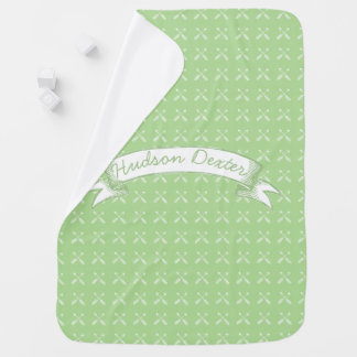 Green Vintage Chalkboard Arrows Lil' Man Swaddle Blanket