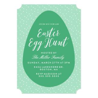 Green Vintage Easter Egg Hunt Card