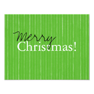 Green Vintage Flat Merry Christmas Cards