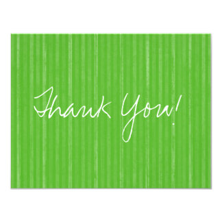 Green Vintage Flat Thank You Cards