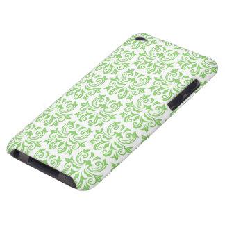 Green vintage floral damask pattern iPod case iPod Case-Mate Cases