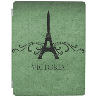 Green Vintage French Flourish iPad Cover