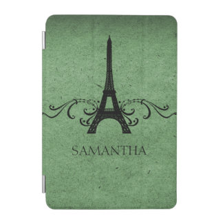 Green Vintage French Flourish iPad Mini Cover