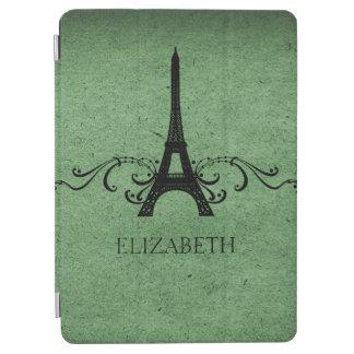 Green Vintage French Flourish iPad Air Cover