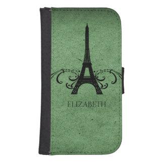 Green Vintage French Flourish Phone Wallet