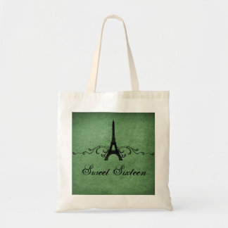 Green Vintage French Flourish Sweet 16 Bag
