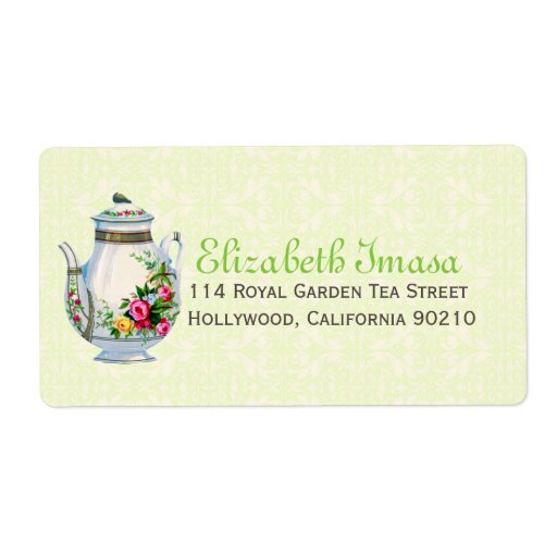 Green Vintage French Tea Party Label