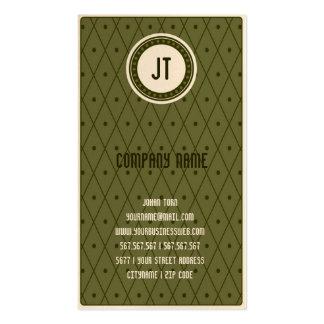 Green Vintage Gambler Cowboy Business Card