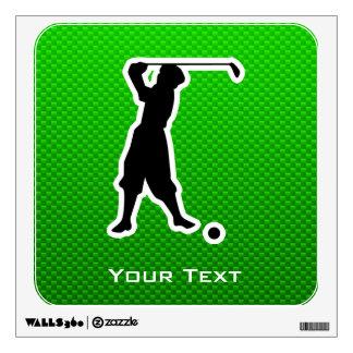 Green Vintage Golfer Wall Skins