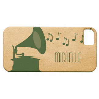 Green Vintage Gramophone BT iPhone 5 Case