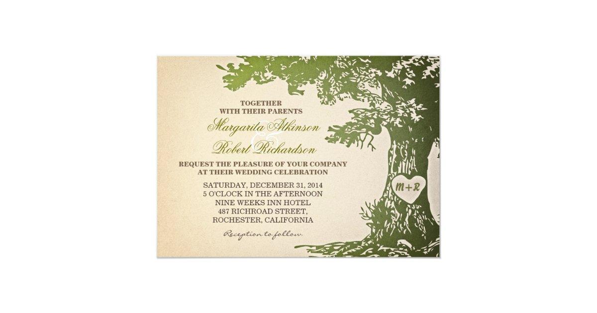 vintage oak tree wedding invitations - 28 images - vintage oak tree ...