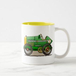 Green Vintage Race Car Mugs