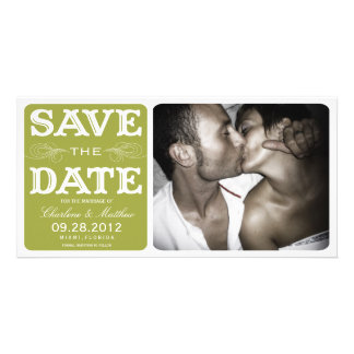 GREEN VINTAGE  | SAVE THE DATE ANNOUNCEMENT